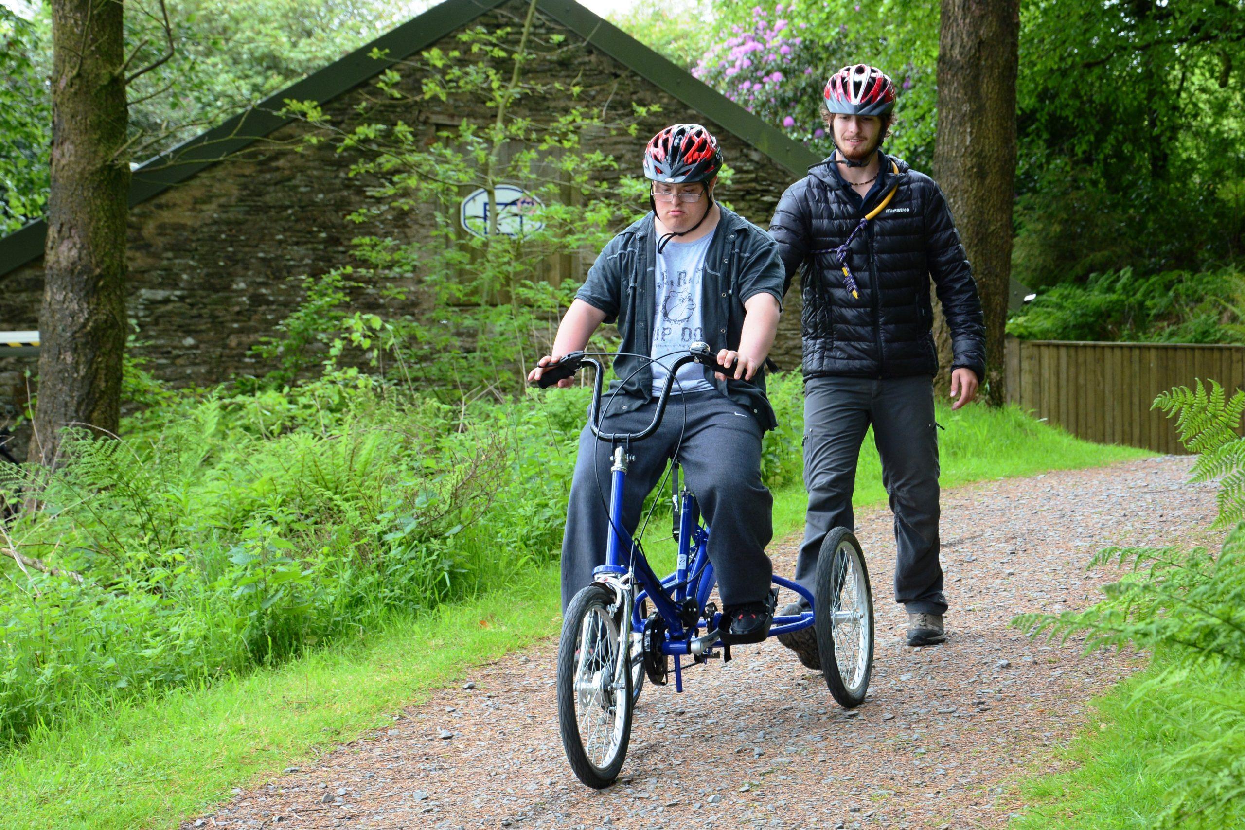 Trikes at Calvert Trust